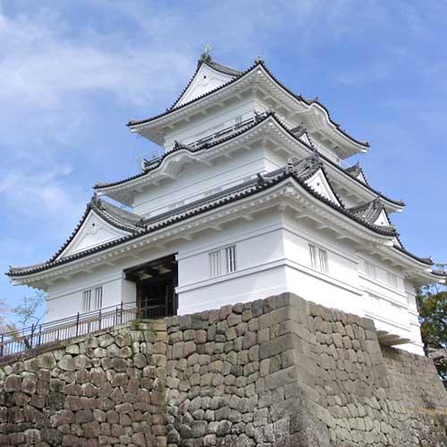 小田原城と小田原用水イメージ