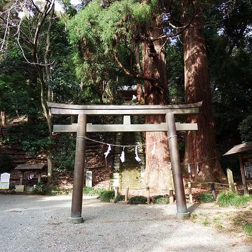 御嶽神社と矢佐芝石丁場イメージ